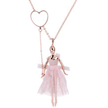 Buy Ted Baker Bevlee Balloon Ballerina Pendant Necklace, Rose Gold Online at johnlewis.com