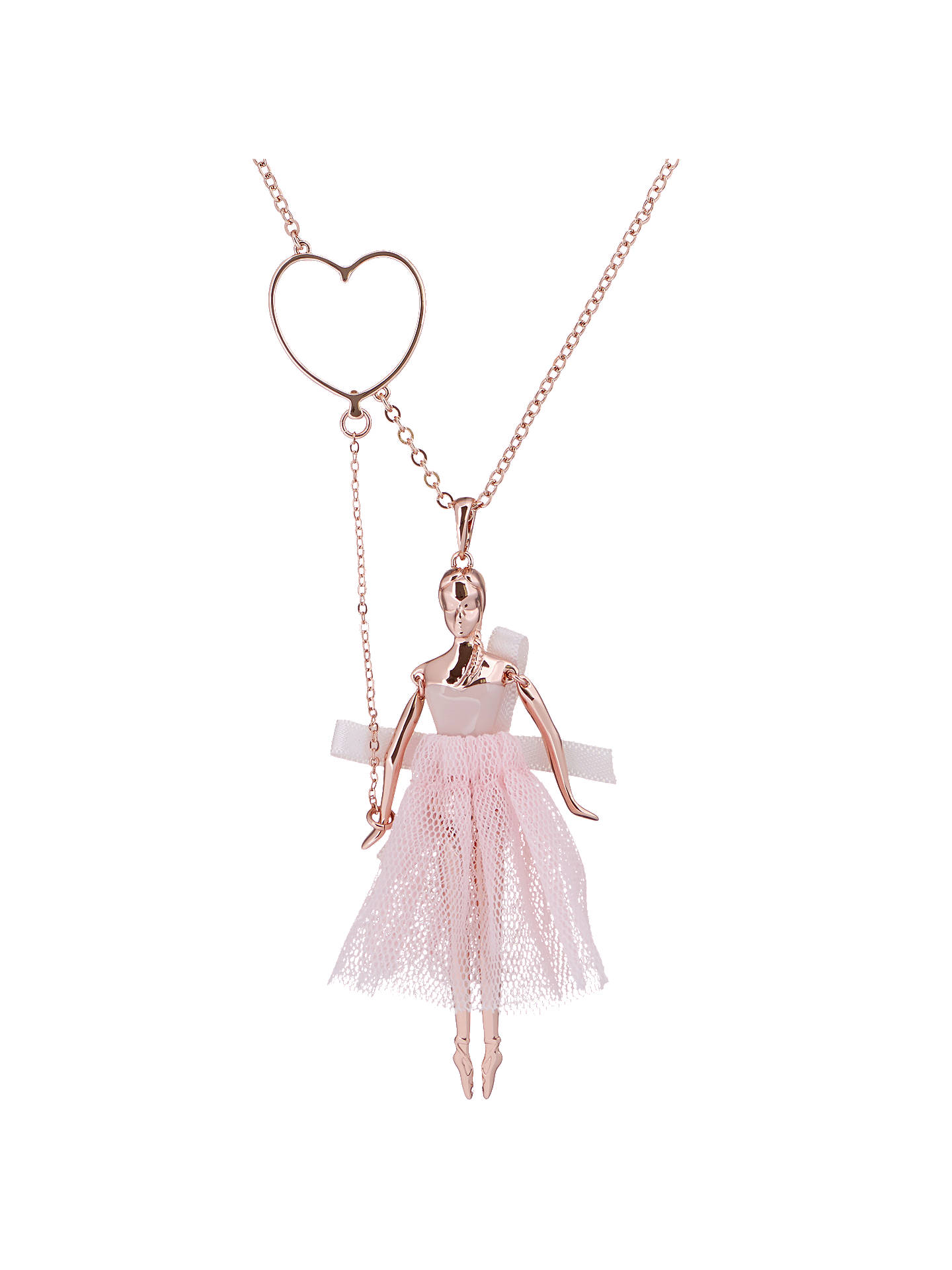 Ted baker bevlee balloon ballerina pendant necklace rose gold at buyted baker bevlee balloon ballerina pendant necklace rose gold online at johnlewis aloadofball Images