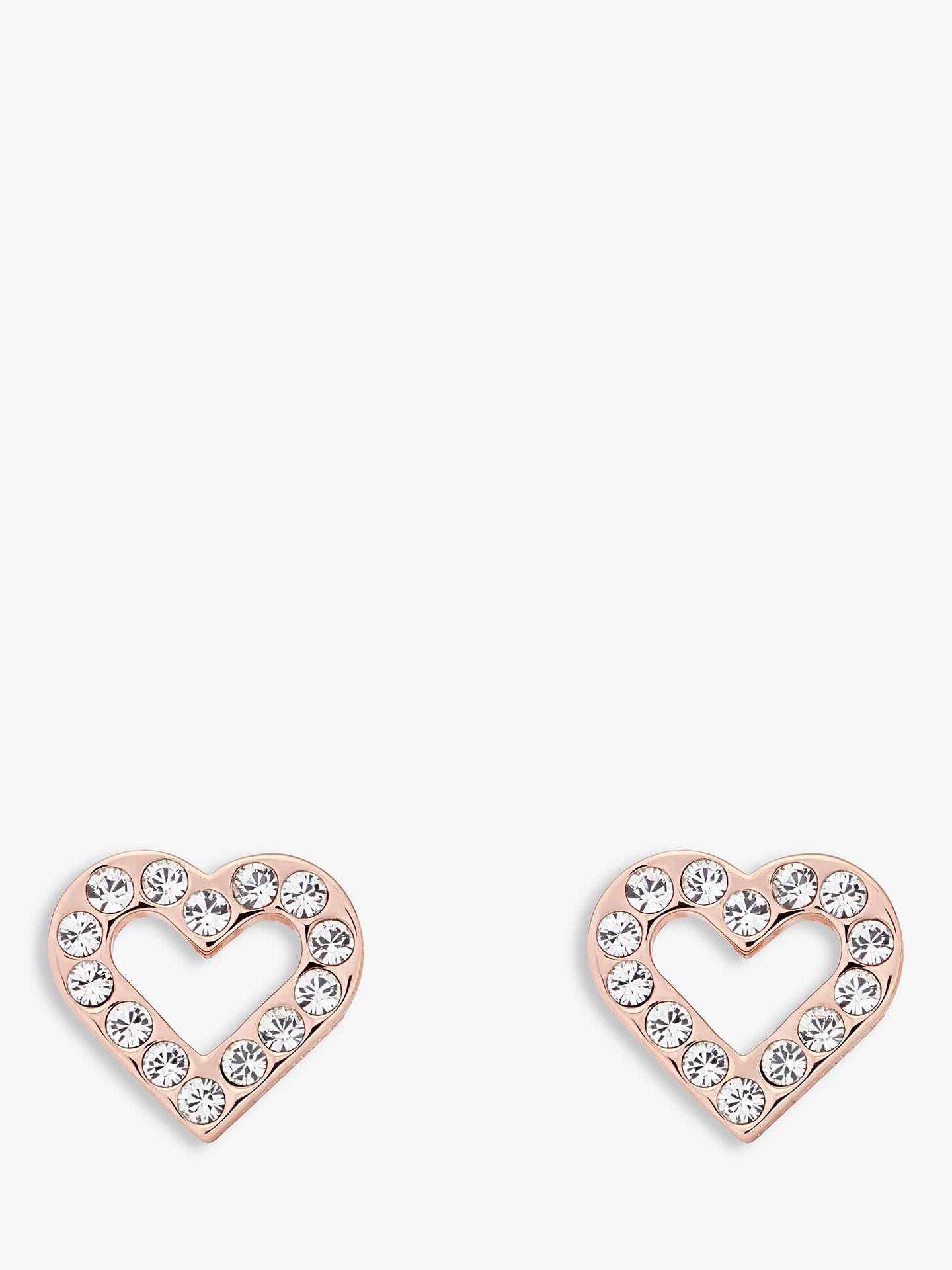 ff4ab3e3281d Buy Ted Baker Swarovski Crystal Heart Stud Earrings