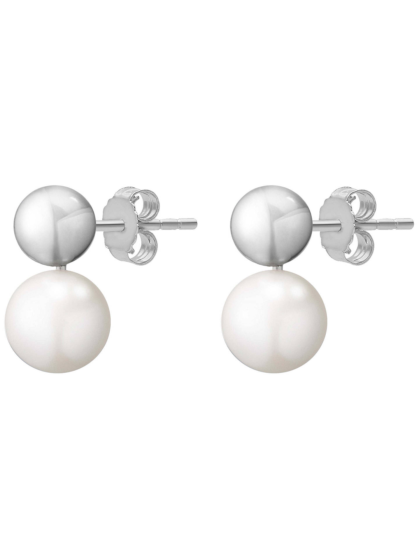 Buy Georg Jensen Grape Pearl Drop Earrings, White/Grey Online at johnlewis.com
