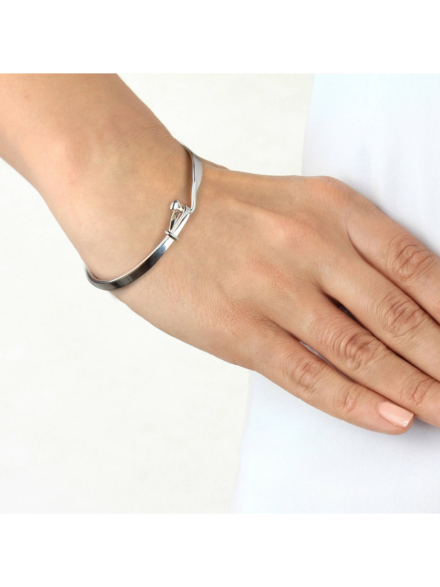 Georg Jensen Viviana Torun Bangle Silver Online At Johnlewis