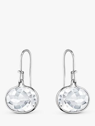 Georg Jensen Savannah Oval Drop Earrings, Rock Crystal