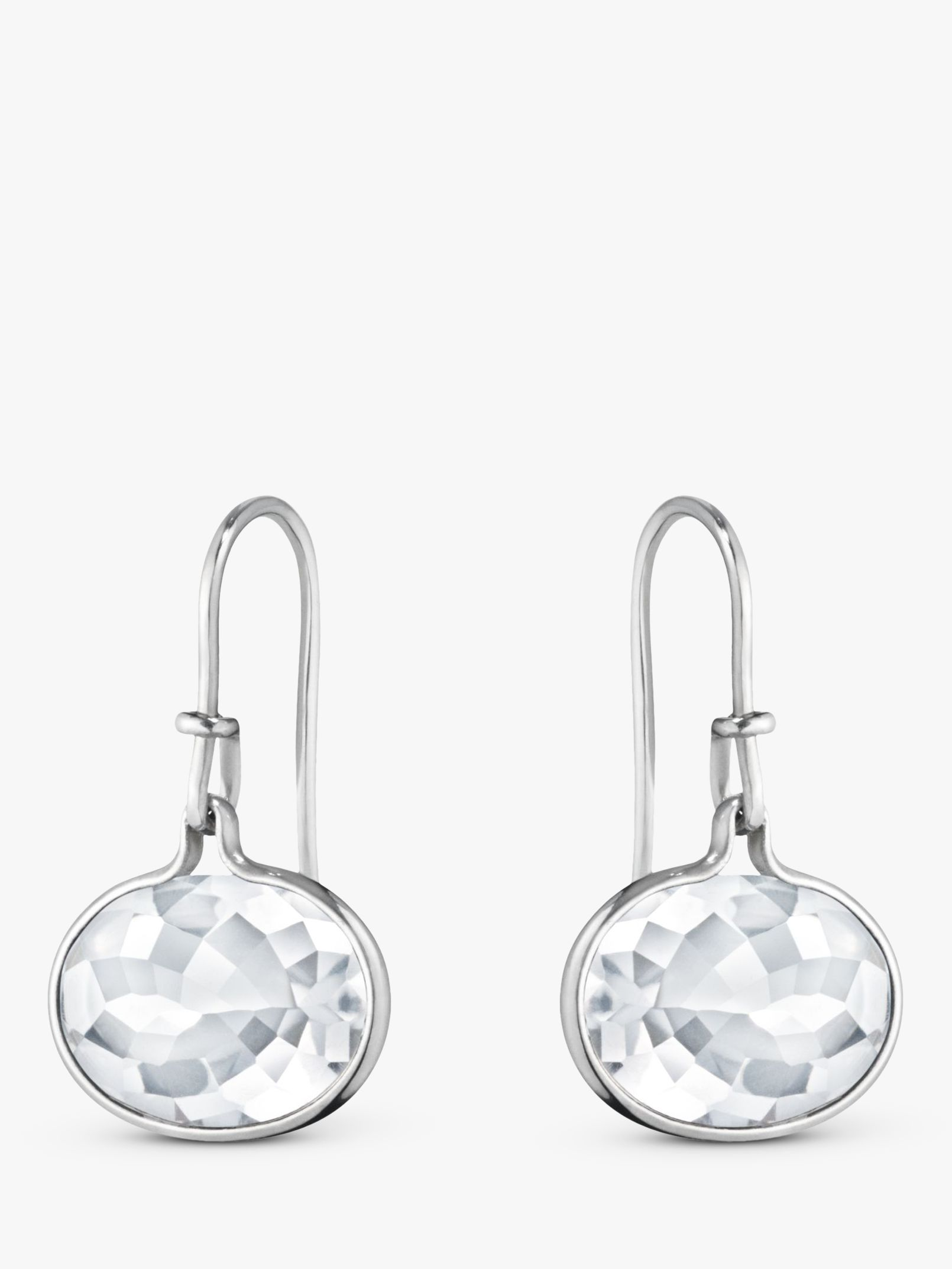 Georg Jensen Georg Jensen Savannah Oval Drop Earrings, Rock Crystal