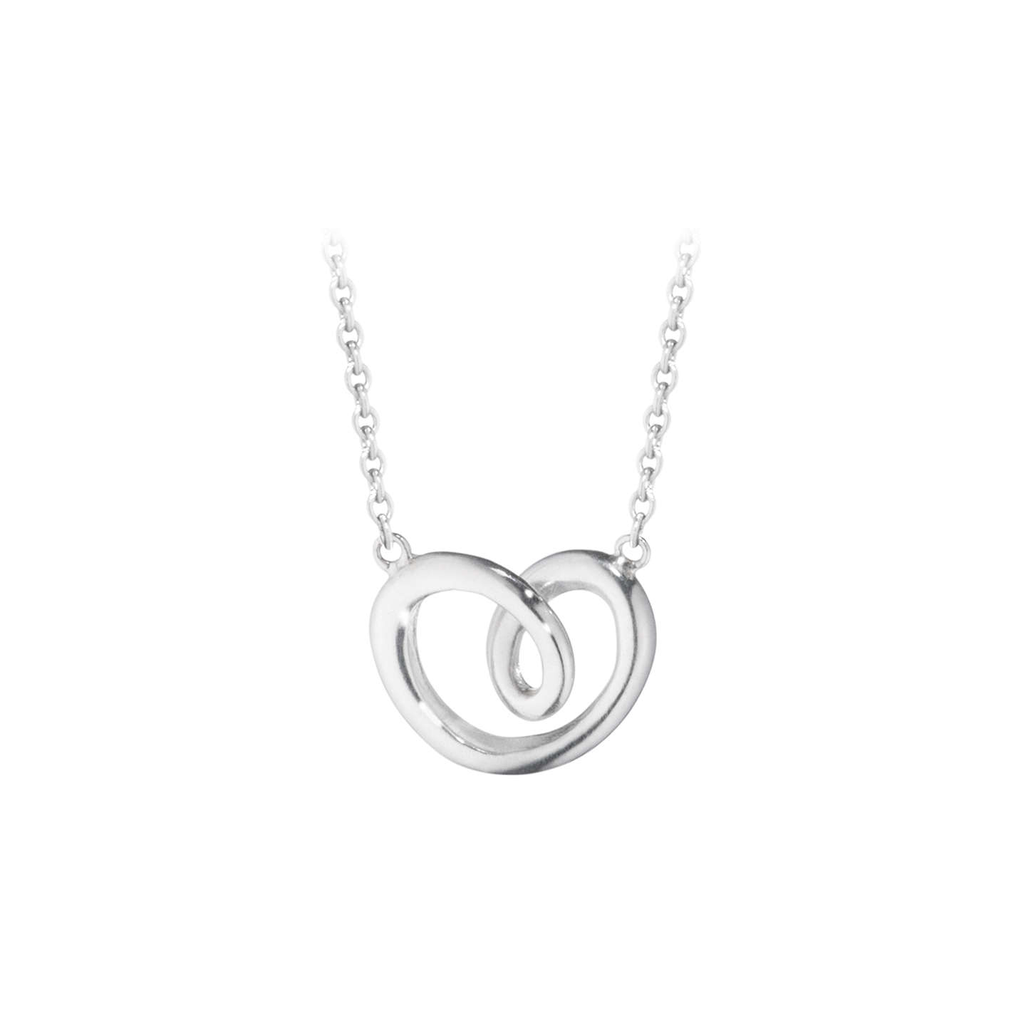 Georg jensen looped heart pendant necklace silver at john lewis buygeorg jensen looped heart pendant necklace silver online at johnlewis mozeypictures Gallery