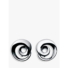 Buy Georg Jensen Moebius Twirl Earrings, Silver Online at johnlewis.com