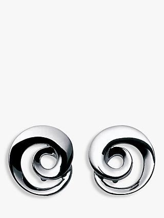 Georg Jensen Möbius Twirl Earrings, Silver