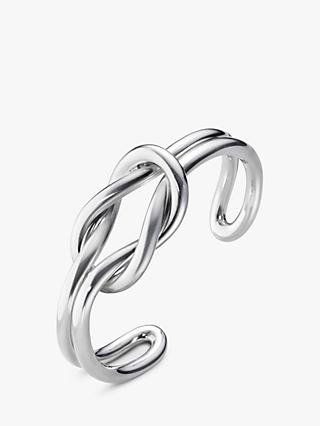 Georg Jensen Medium Love Knot Double Bangle, Silver
