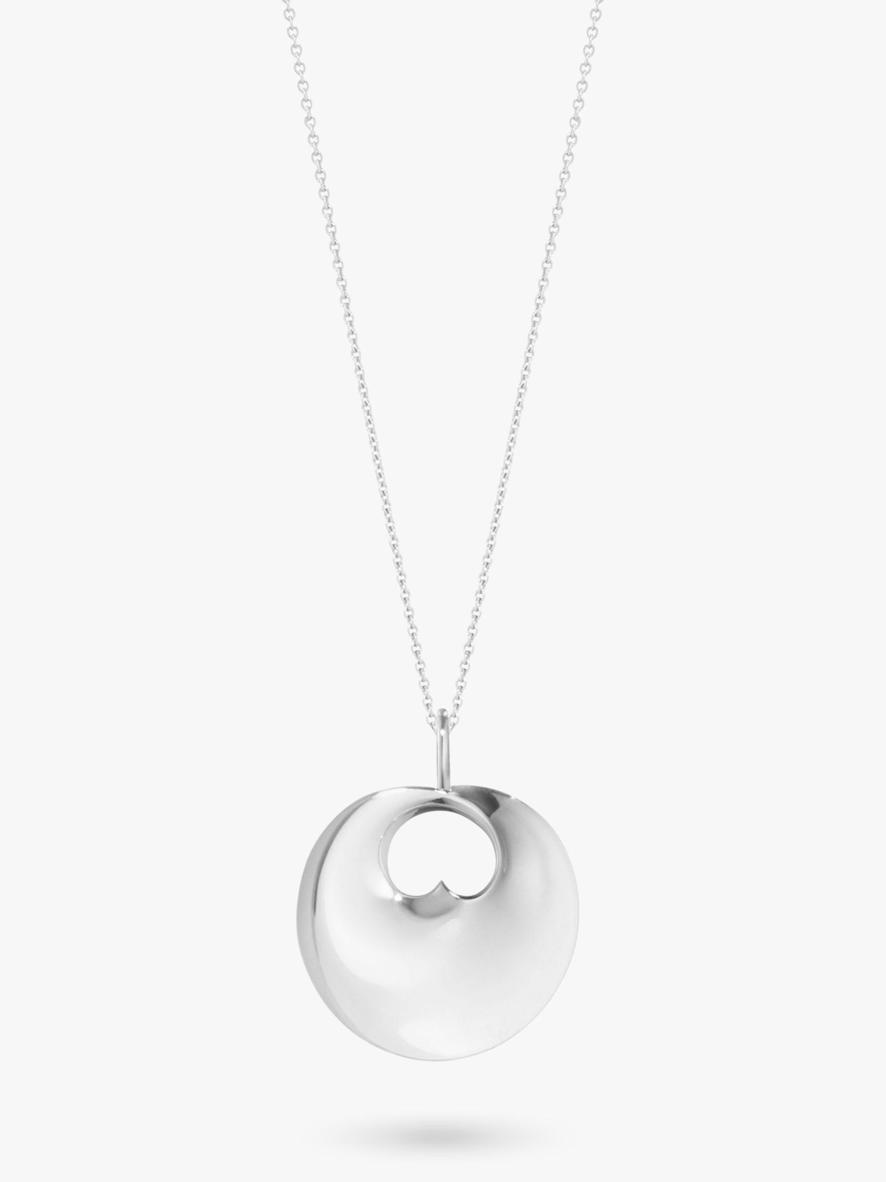 Georg Jensen Georg Jensen Hidden Heart Pendant Necklace, Silver