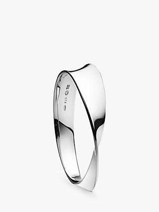 Georg Jensen Möbius Bangle, M/L, Silver