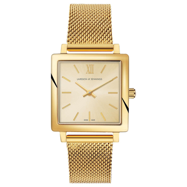 Larsson & Jennings Women's Norse Bracelet Strap Watch, Gold/Blush by Larsson & Jennings