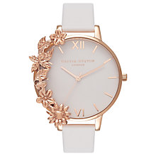 Buy Olivia Burton Women's Case Cuffs Leather Strap Watch Online at johnlewis.com