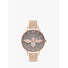 Buy Olivia Burton OB16AM117 Women's 3D Bee Mesh Bracelet Strap Watch, Rose Gold/Grey Online at johnlewis.com