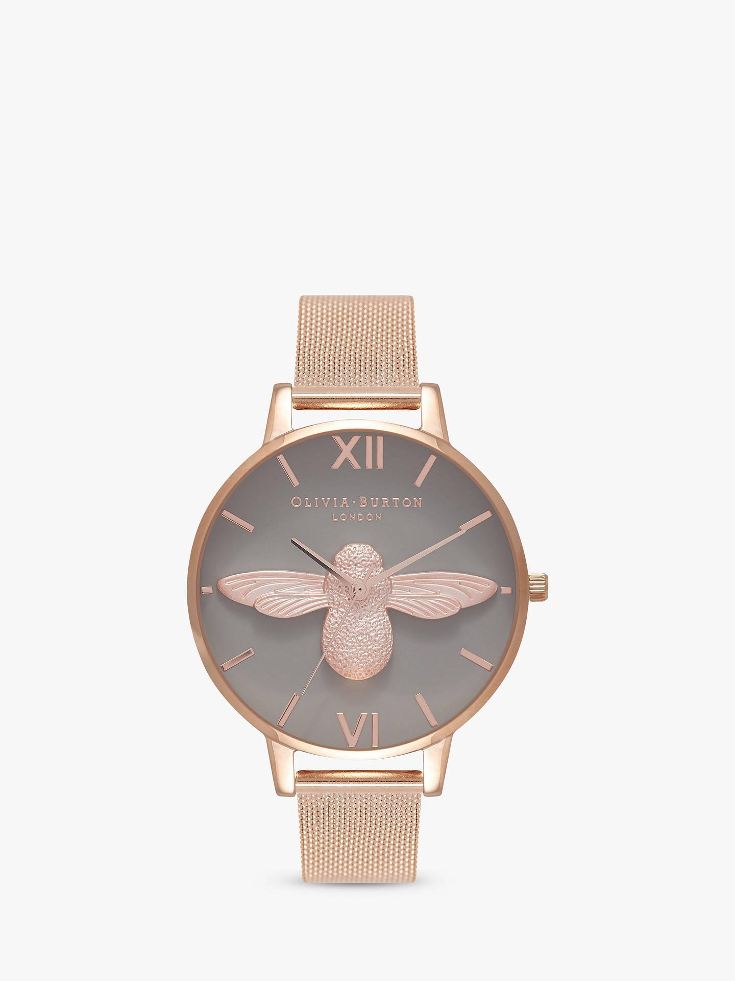Olivia Burton OB16AM117 Women s 3D Bee Mesh Bracelet Strap Watch ... 06794213a2