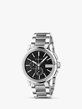 e8aa2509add Gucci YA101204 Men s G-Chrono Chronograph Bracelet Strap Watch