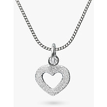 Buy Nina B Sparkle Heart Pendant Necklace, Silver Online at johnlewis.com