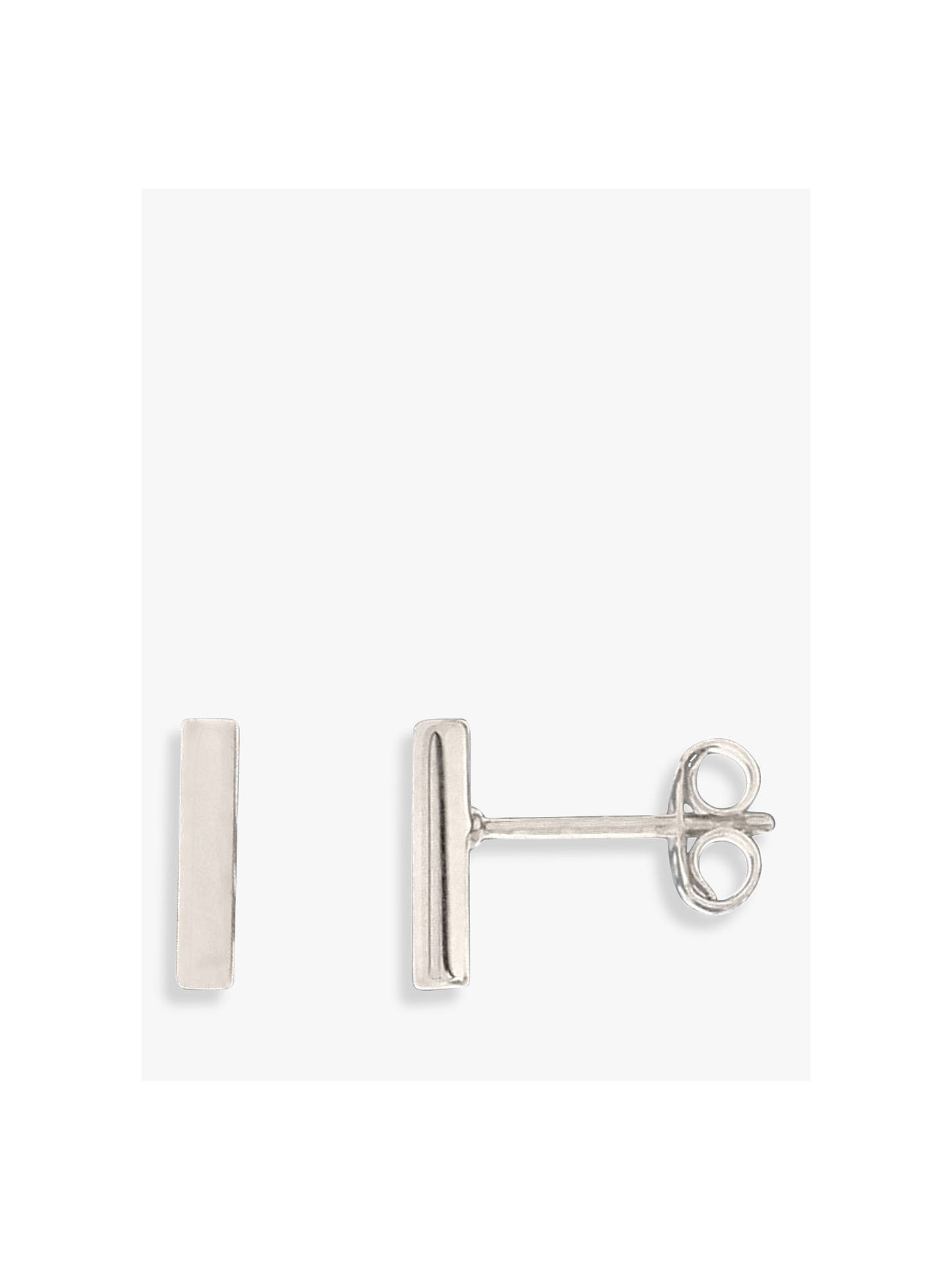 Nina B Slim Bar Stud Earrings, Silver by Nina B