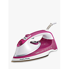 Buy Morphy Richards Turbosteam Pro Steam Ceramic Iron, Pink Online at johnlewis.com