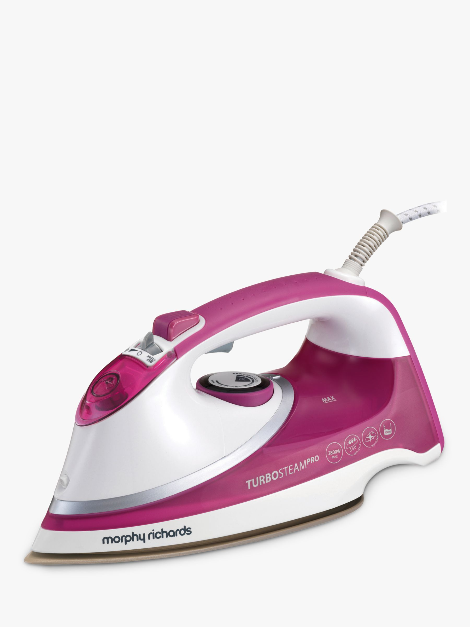 Morphy Richards Morphy Richards Turbosteam Pro Steam Ceramic Iron, Pink