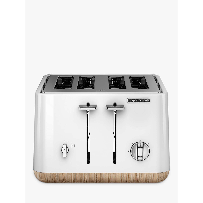 Slicwe Morphy Richards Toaster 4: Morphy Richards Aspect 4 Slice Toaster, White At John Lewis