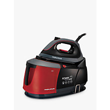 Buy Morphy Richards Auto-Clean Power Steam Elite Steam Generator Iron, Black/Red Online at johnlewis.com