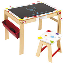Buy Janod Splash 2 in 1 Wooden Desk Online at johnlewis.com