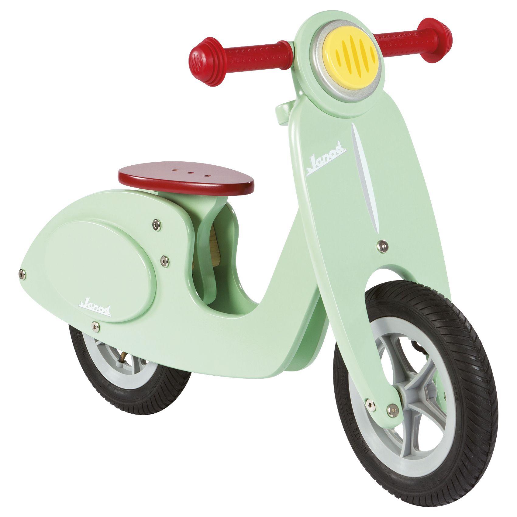 Janod Janod Wooden Scooter Balance Bike, Mint