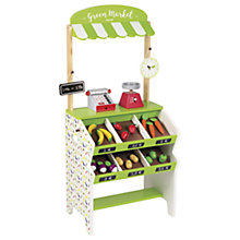 Buy Janod Green Market Grocery Wooden Playset Online at johnlewis.com