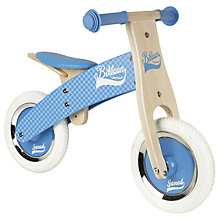 Buy Janod Wooden Balance Bike Online at johnlewis.com