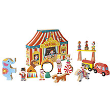 Buy Janod Story Box Circus Wooden Play Set Online at johnlewis.com