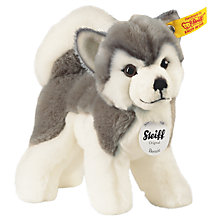 Buy Steiff Bernie Husky Plush Soft Toy Online at johnlewis.com
