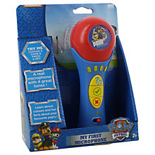 Buy Paw Patrol My First Microphone Online at johnlewis.com