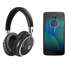 "Buy Moto G5S Plus Smartphone, Android, 5.5"", 4G LTE, SIM Free, 32GB with Headphones, Lunar Grey Online at johnlewis.com"