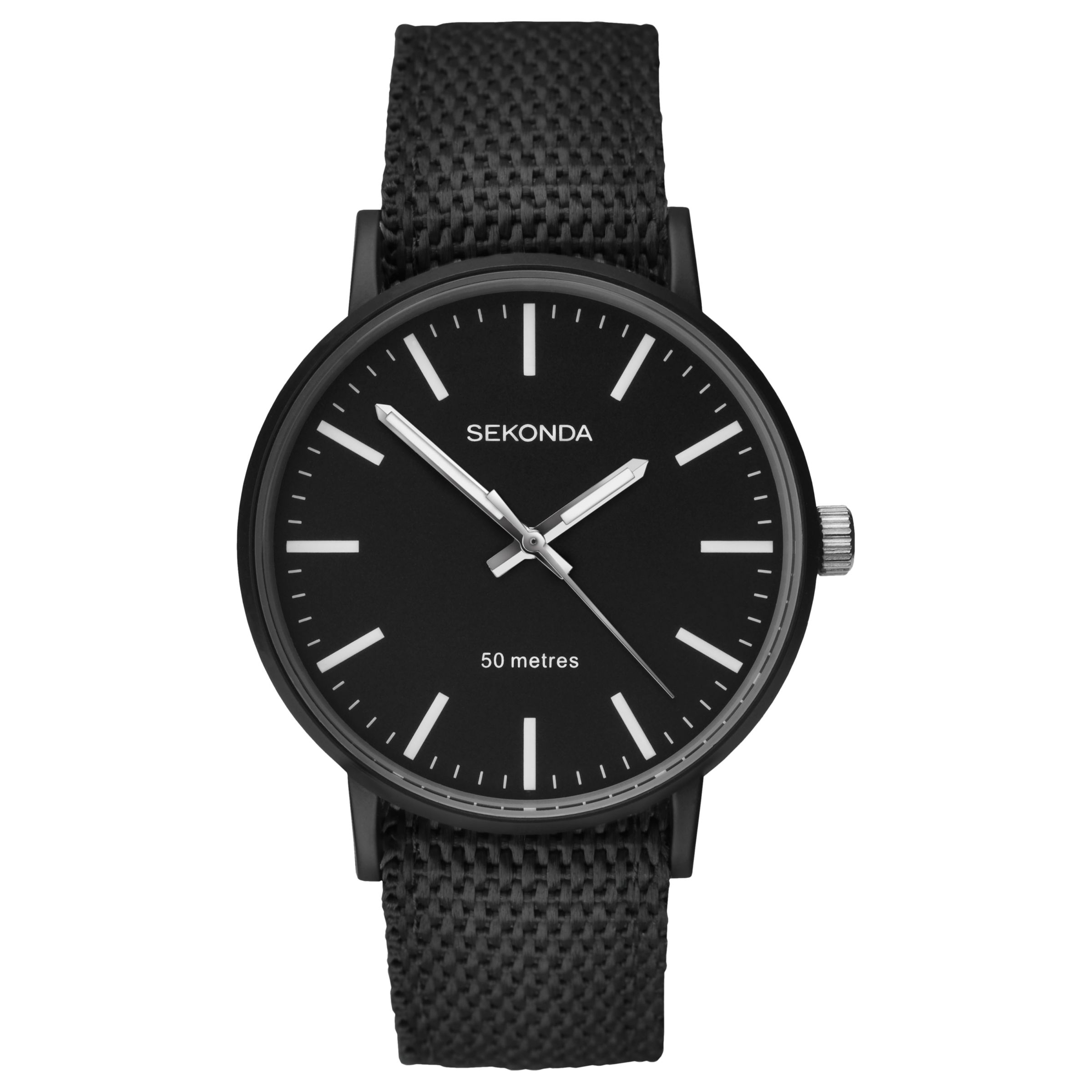 Sekonda Sekonda Men's Reversible Nylon Fabric Strap Watch
