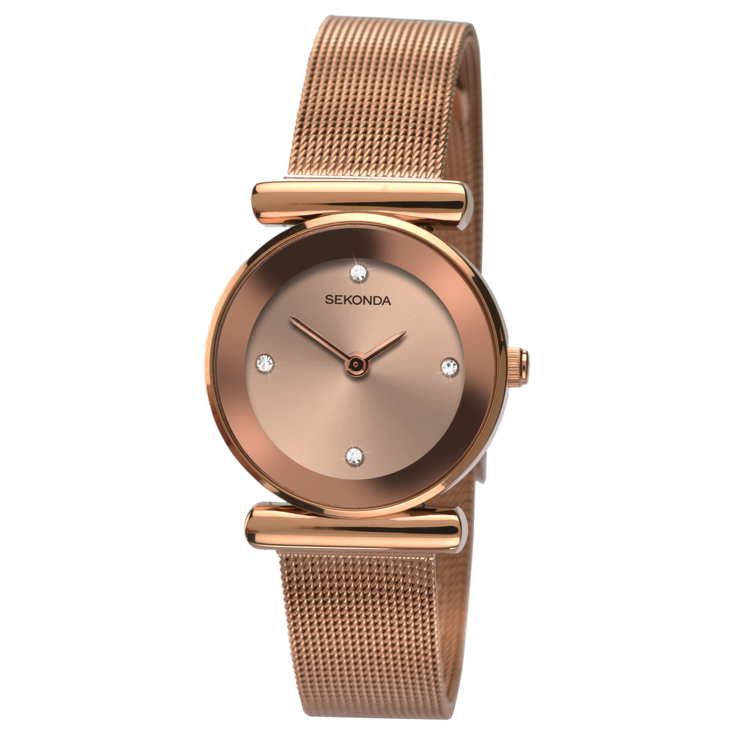 Sekonda Sekonda 2301.27 Women's Mesh Bracelet Strap Watch, Rose Gold