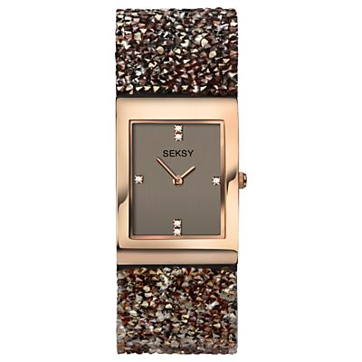 Sekonda Women's Seksy Crystal Rock Bracelet Strap Watch