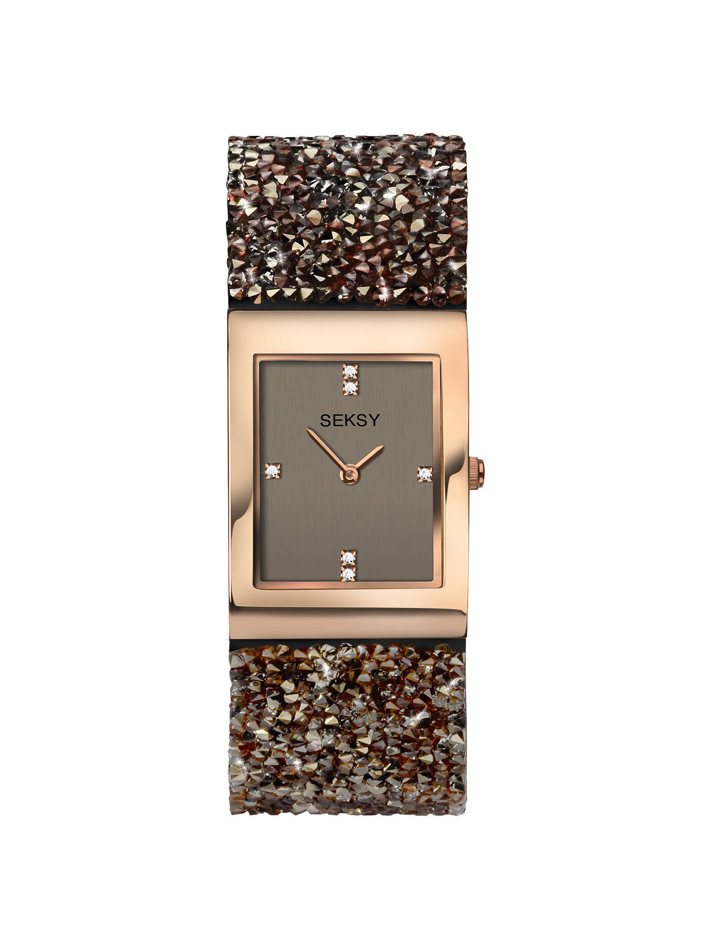 BuySekonda Women's Seksy Crystal Rock Bracelet Strap Watch, Multi/Chocolate 2580.37 Online at johnlewis.com