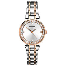 Buy Sekonda 2541.27 Women's Crystal Two-Tone Bracelet Strap Watch, Silver/Rose Gold Online at johnlewis.com