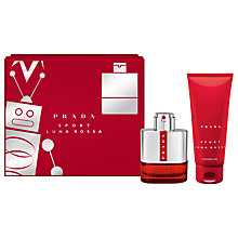 Buy Prada Luna Rossa Sport 50ml Eau de Toilette Fragrance Gift Set Online at johnlewis.com