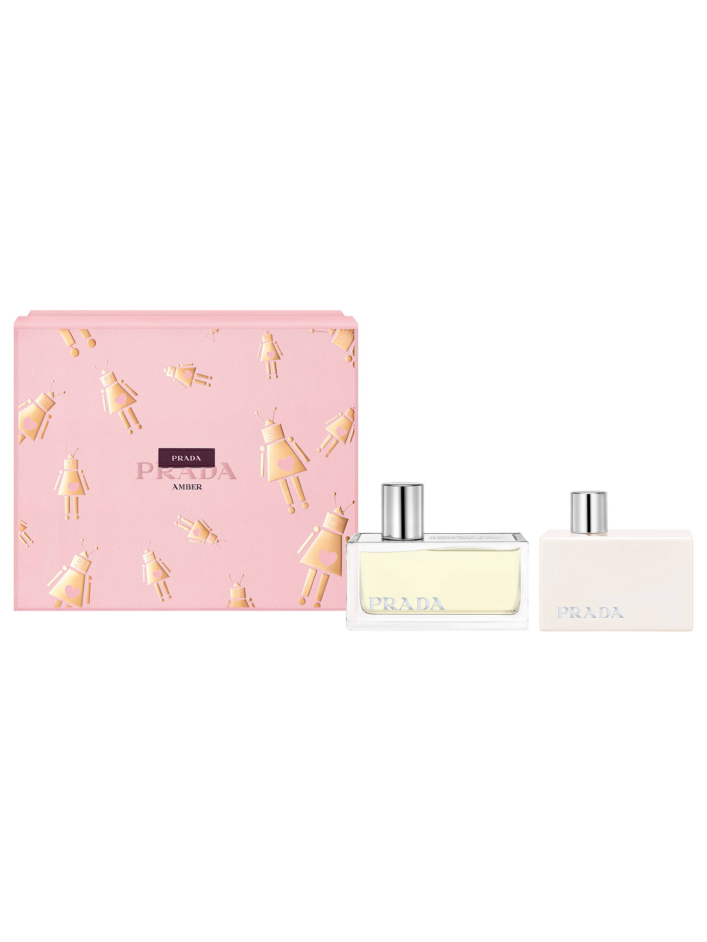 2fe43370 Prada Amber 50ml Eau de Parfum Fragrance Gift Set at John Lewis ...