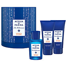 Buy Acqua di Parma Blu Mediterraneo Arancia di Capri 75ml Eau de Toilette Fragrance Gift Set Online at johnlewis.com
