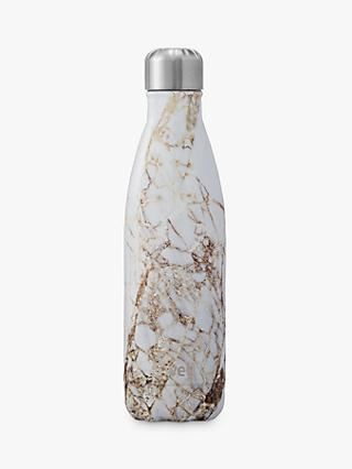 S'well Calacatta Gold Marble Vacuum Insulated Drinks Bottle, 500ml