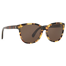 Buy Ralph Lauren Polo PH4117 Havana Sunglasses, Tortoiseshell/Grey Online at johnlewis.com