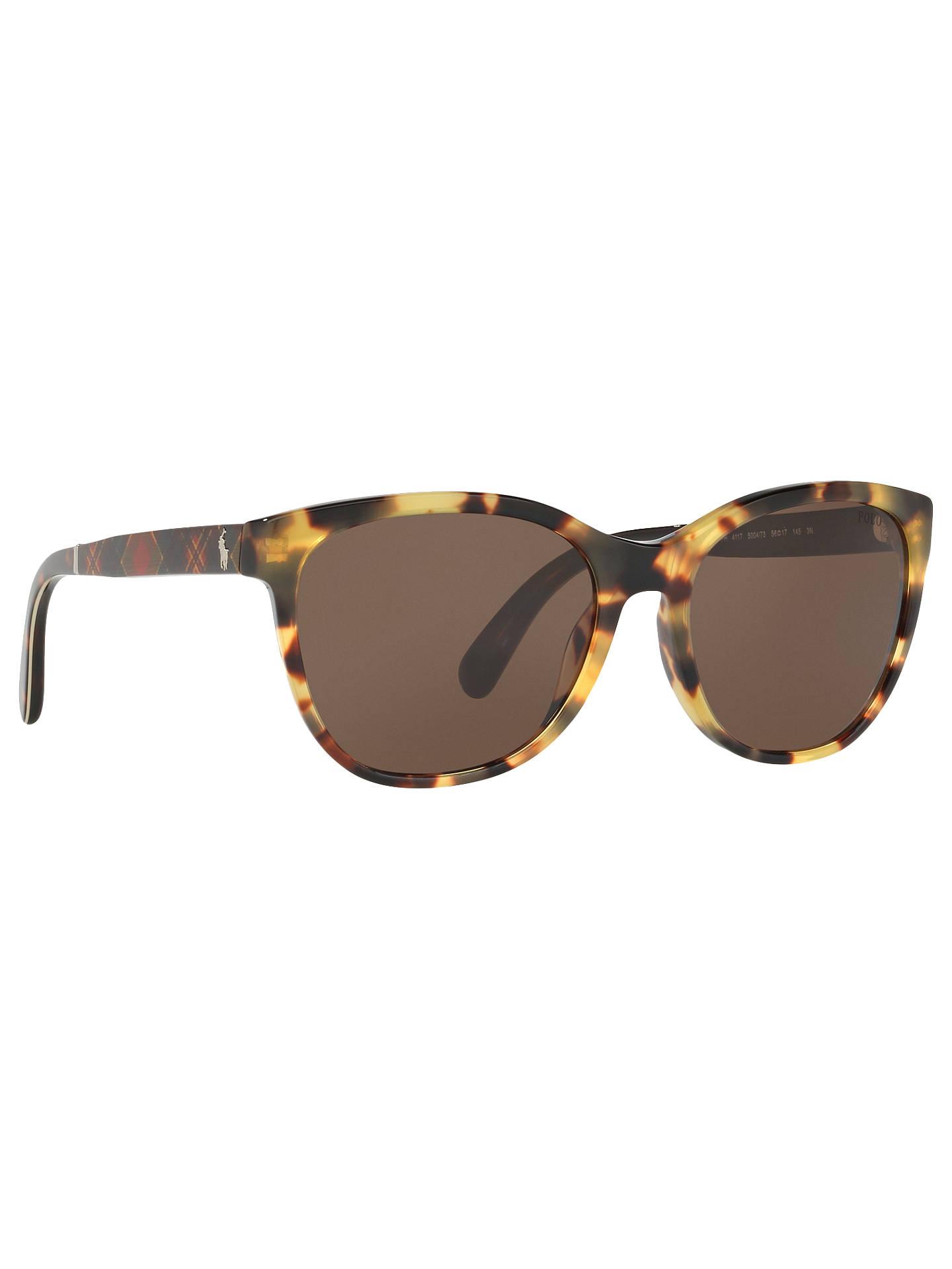 fe490881e Buy Polo Ralph Lauren PH4117 Havana Sunglasses, Tortoiseshell/Grey Online  at johnlewis.com ...