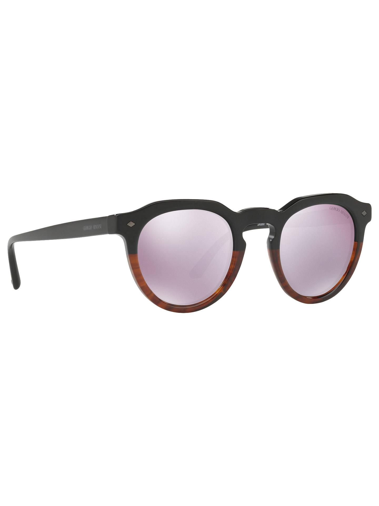 ea6f3a5858a6 Giorgio Armani AR8093 Men s Round Sunglasses at John Lewis   Partners