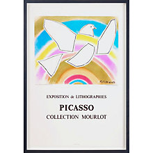 Buy Picasso - Mourlot The Rainbow Dove Framed Print, 82 x 60cm Online at johnlewis.com