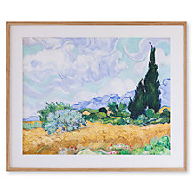 Buy Vincent Van Gogh - Wheat Field with Cypress Framed Print, 68 x 82cm Online at johnlewis.com