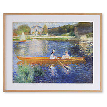 Buy Pierre-Auguste Renoir - The Skiff Framed Print, 66 x 82cm Online at johnlewis.com