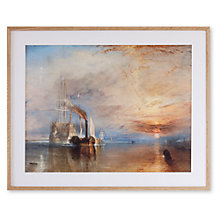 Buy Joseph Mallord William Turner - The Fighting Temeriaire Framed Print, 67 x 82cm Online at johnlewis.com