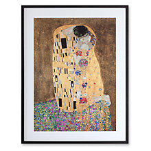 Buy Gustav Klimt - The Kiss Framed Print, 70 x 51cm Online at johnlewis.com