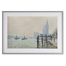Buy Claude Monet - The Thames At Westminster Framed Print, 70 x 82cm Online at johnlewis.com